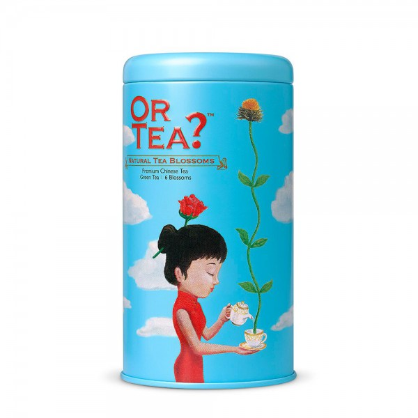 Or Tea?- Tin Canister - Natural Tea Blossoms