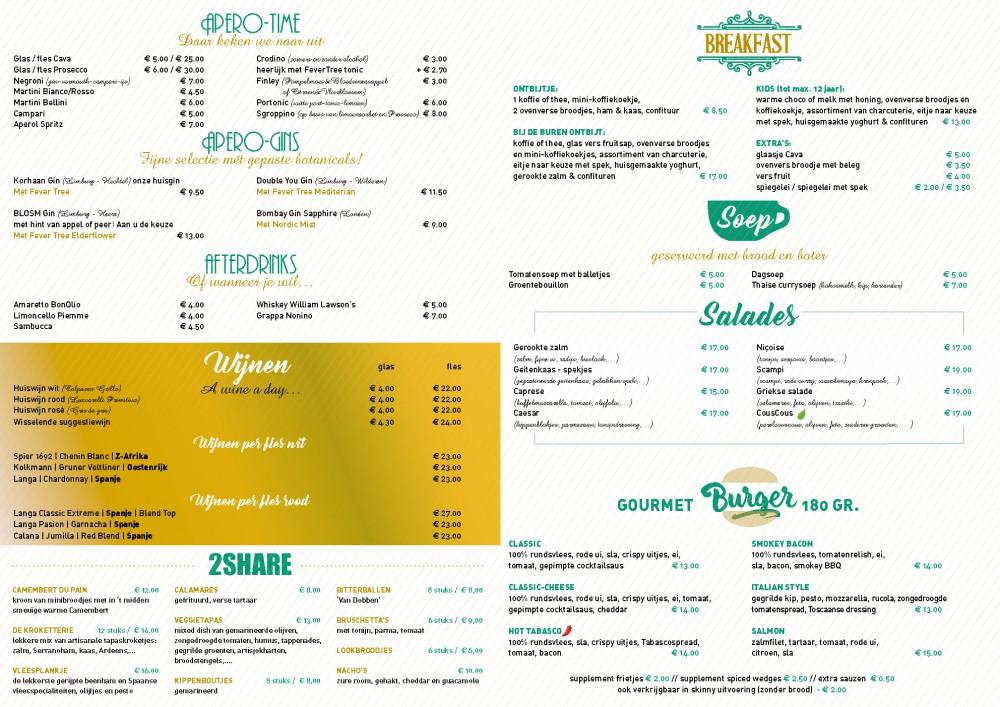menukaart 2